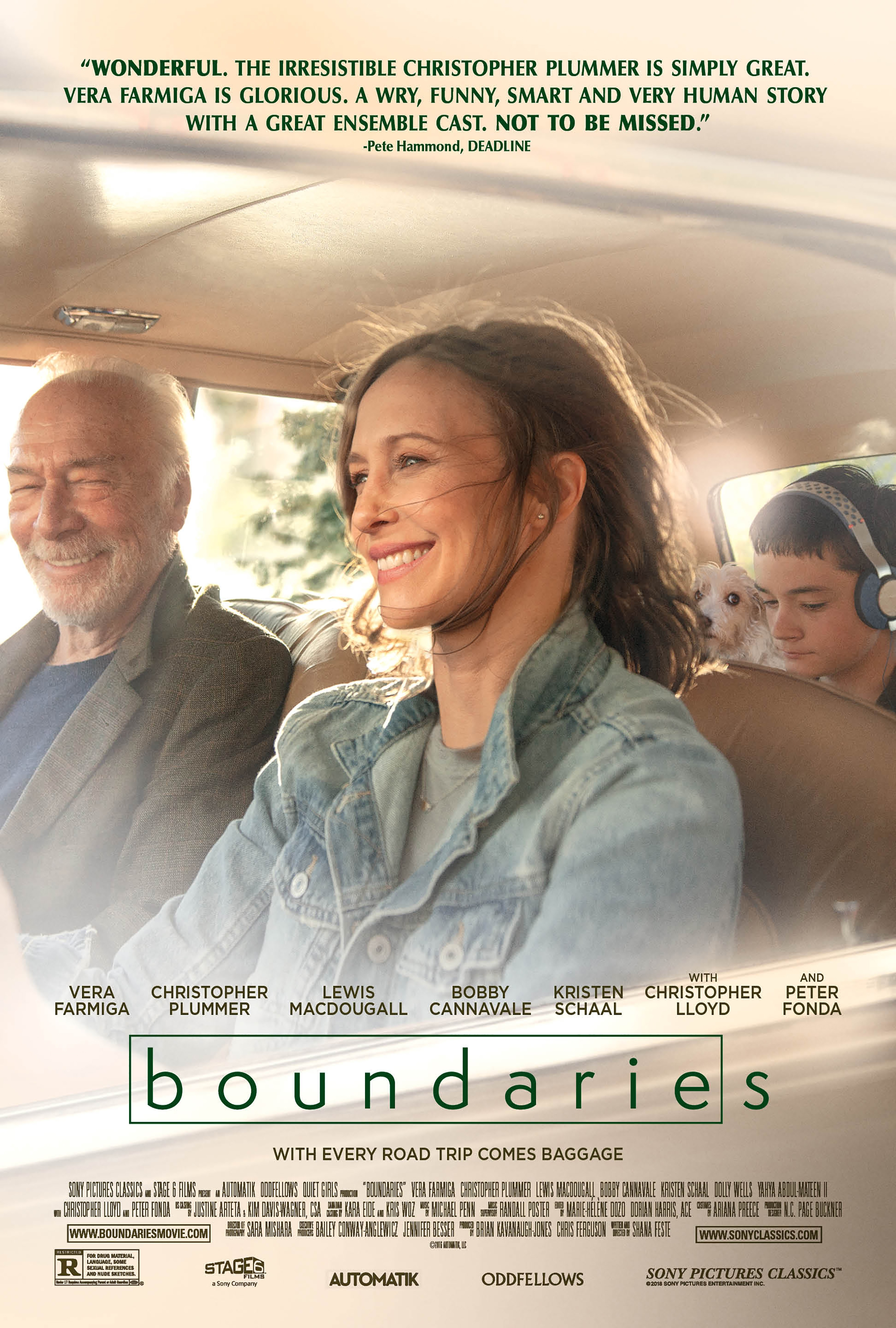 Boundaries, Sony Pictures, dog movie